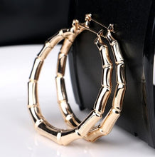 Load image into Gallery viewer, Women's Fashion Brand 925 Silver 5cm Big Circles Hoop Earrings Jewelry Gifts for Women Colour: Gold, Silver