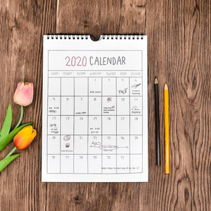 2020 Calendar Hanging Schedule Memo Monthly Wall Calendars for Home and Office Decoration