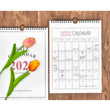 Load image into Gallery viewer, 2020 Calendar Hanging Schedule Memo Monthly Wall Calendars for Home and Office Decoration