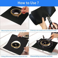 Load image into Gallery viewer, 2/4/6/8/10PCS Universal Stove Burner Covers Protector Sheets Oven Liner Protector reusable covers