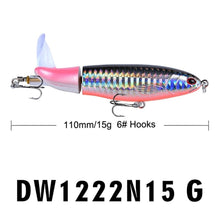 Load image into Gallery viewer, 2019 New Propeller Tractor Fishing Lure13g/9cm Hard Bait Floating Water Pencil Outdoor Topwater Whopper Plopper Fishing Tackle