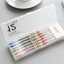 Load image into Gallery viewer, 12 Pcs/lot Muji Style Gel Pen 0.5mm Color Ink Pen Maker Pen School Office Supply 12 Colours