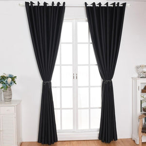 2 Panel Blackout Curtains Thermal Insulating Room Darkening Curtains for Living Room 39'X51'