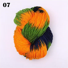 Load image into Gallery viewer, Multi-colored Soft Knitting Yarn DIY Hand-knitted Knitting Yarn Thick Hand Knitted Carded Threads Yarn for Kids Baby Sweaters Scarf