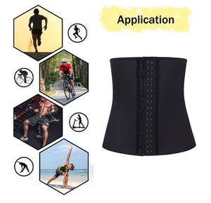 HOT Men Latex Corset Underbust Waist Trainer Slimming Belt Shapewear Body For Tummy Sport Weight Loss