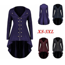 Load image into Gallery viewer, New Fashion Ladies Gothic Halloween Cosplay Long Sleeve Windbreaker Coat