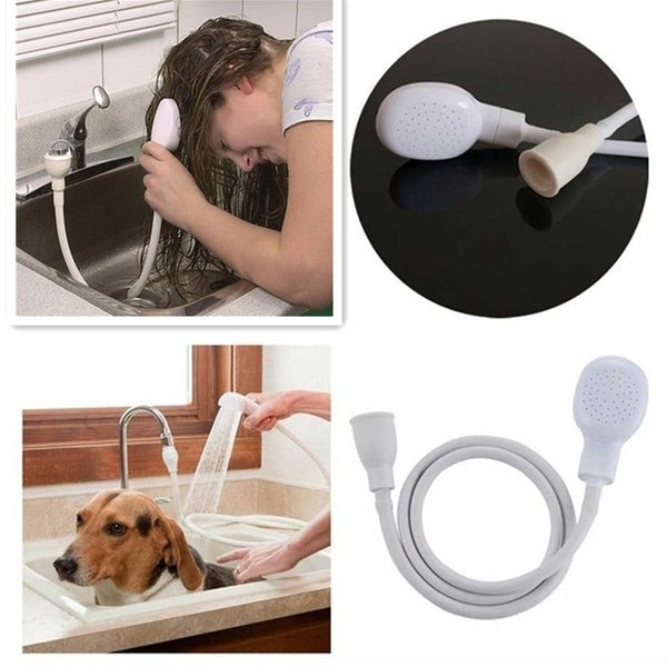 Flexible Pet Dog Cat Shower Head Hair Wash Rubber Washing Shower Head