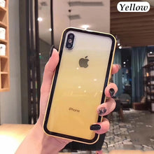 Load image into Gallery viewer, New Vitality Color Tempered Glass Case for Iphone X Xr Xs Max Cover Soft TPU Case for Iphone 6 6s 7 8 Plus Shell Case