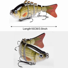 Load image into Gallery viewer, 5pcs/Set Fishing Lures Swimbait Crankbait Bait 10cm/15.3g 7-Segemants Artificial Lures Fishing Tackle