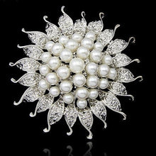 Load image into Gallery viewer, Fashion Women Brooches Lady Imitation Pearls Rhinestones Crystal Wedding Brooch Pin Jewelry Accessories