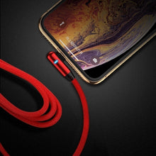Load image into Gallery viewer, Newest Fashion 90 Degree Lightning Cable for Iphone Xr Micro USB Cable Fast Charging USB Type C Cable for S9 S8 Note 9 Mobile Phone USB Charging Cord