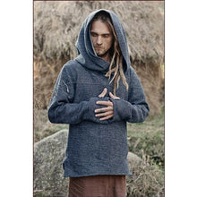 Load image into Gallery viewer, Mens Medieval Knight Hooded Vintage Long Sleeve Hoodies