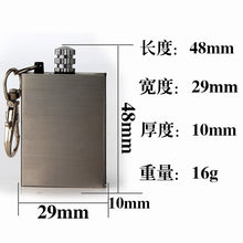 Load image into Gallery viewer, 10000 Times Match Box Outdoor Emergency Fire Starter Camping  Hiking Survival Lighter Iron Smoked Wood Smoked Lighter