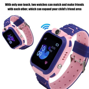 Q12B Upgrade Muti-functions Kids Smart Watch Children Smart Watch Touch Screen Waterproof SIM Video Call Anti-Lost With LSB Base Station Positioning Tracker