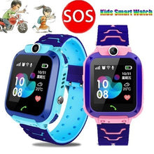 Load image into Gallery viewer, Q12B Upgrade Muti-functions Kids Smart Watch Children Smart Watch Touch Screen Waterproof SIM Video Call Anti-Lost With LSB Base Station Positioning Tracker