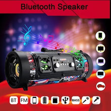 Load image into Gallery viewer, Subwoofer Handsfree Wireless Bluetooth Portable Speaker Surround Sound Stereo Outdoor USB/ AUX/ TF Card for Phone PC