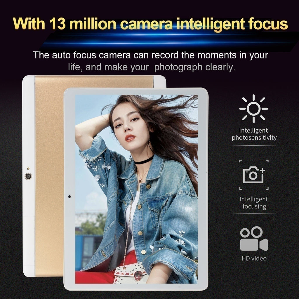 2019 New Tablets with 10.1 Inch Full Screen 8GB +512GB Large Memory Tablets with 4G Network 1920*1200 IPS Screen Cheap Tablets Android  Octa Core MT6797 Dual SIM Card Ipad Pro Phone 4G Call Wifi Android Tablets