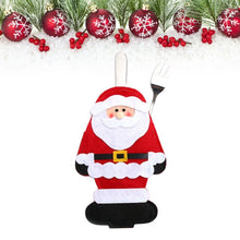 Load image into Gallery viewer, 1/3/6PC Christmas Table Decorations Cutlery Bag Tableware Covers Santa Claus/Snowman/Elk Kitchen Silverware Holders Pockets Meal Bag