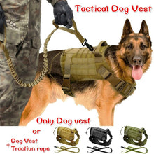 Load image into Gallery viewer, Army Tactical Dog Vest Water Resistant Durable Military Commuter Bag Sundries Bags Kettle Set for Dog Training Large Dogs Medium Dogs