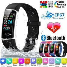 Load image into Gallery viewer, Big Color Screen Smart Bracelet IP67 Bluetooth Sport Smartband Heart Rate Blood Pressure Oxygen Monitor Fitness Tracker Pedometer Step Calories Counter Sleep Reminder Activity Tracker Smart Wristband for Iphone Android Phone