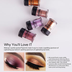 PERALICE Eye Shadow Cosmetic Makeup Easy To Wear Shimmer and Matte Waterproof Water Resistant All Skin 12 Colors