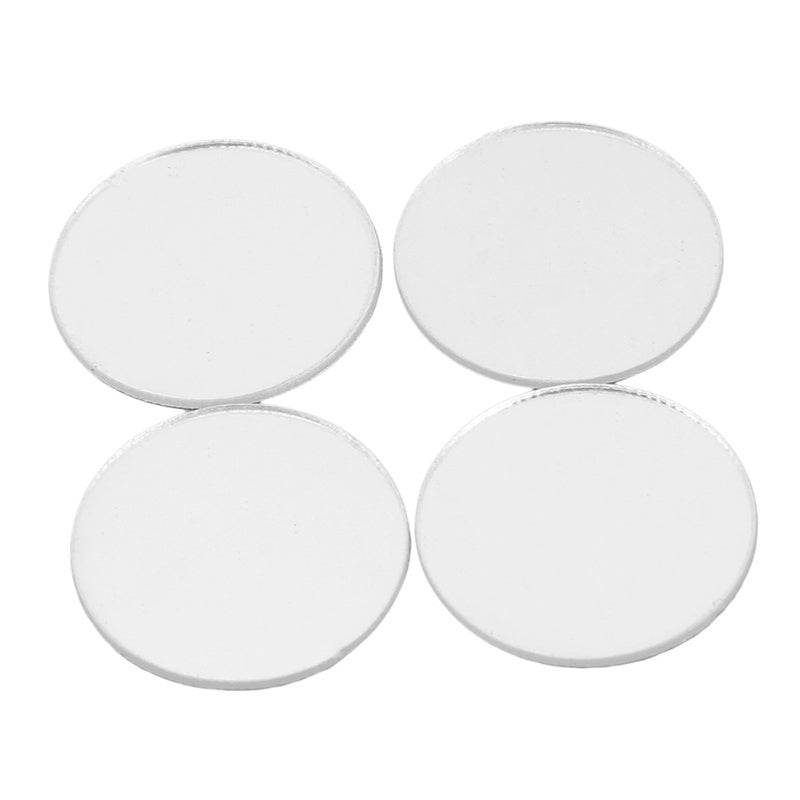 100pcs/set 2cm Mini 3D Acrylic Mirror Wall Stickers Heart/Round Shape Stickers Decal Mosaic Mirror Effect Living Room Home Decor