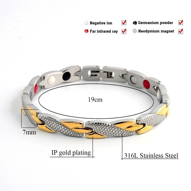 2019 Unique Ladies Bracelet Simple Twisted Magnetic Bracelet Female Stainless Steel Bracelet Healthy Magnetic Bracelet for Women Power Therapy Magnets Bracelets
