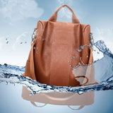 Women Vintage Backpack Leather Shoulder Bag Anti-Theft Casual Rucksack Pack Handbag Ladies Satchel