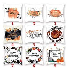 Load image into Gallery viewer, 80 Styles New Halloween Watercolor Pumpkin Pillow Case Thanksgiving Pillow Case Cushion Cover Sofa Bed Car Decor