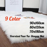 9 Colors Oversized 90X160/80x120cm/70x180cm Faux Fur Fluffy Wool Rug Mat Hairy Sofa Floor Home Room Carpet Chair Seat Cover