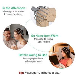Head Scratcher Head Massage for Relaxation and Blood Circulation