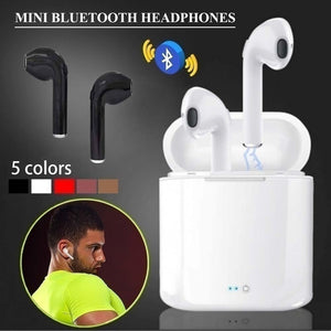 One Ear/ Double Ear I7S TWS Earbuds Ture Wireless Bluetooth Twins Wireless Earbuds Twins Earpieces Stereo Music Headset Mini Bluetooth Headset Earphone With Charging Case