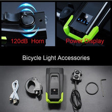 Load image into Gallery viewer, 2000/4000mAh Smart Induction Bike Front Light Kit USB Rechargeable LED Taillight And Headlight With Horn FlashLight For Bicycle