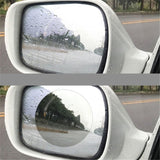 2Pcs Car Anti-reflective Anti Water Mist Film Anti Fog Rainproof Rearview Mirror Protective Film Cover