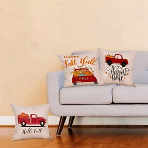 45cmx45cm Happy Fall Halloween Thanksgiving Pillow Cases Linen Sofa Pumpkin Ghosts Cushion Cover Home Decor