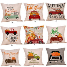 Load image into Gallery viewer, 45cmx45cm Happy Fall Halloween Thanksgiving Pillow Cases Linen Sofa Pumpkin Ghosts Cushion Cover Home Decor