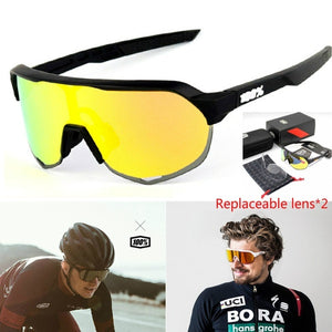 100% S2 Brand Peter Sagan Same paragraph Riding Cycling Sunglasses Tr90 Ultra Light Bicycle Fishing Eyewear Sport Goggles   Replaceable Lens *2