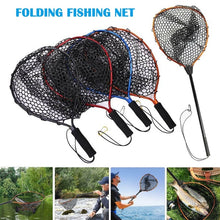 Load image into Gallery viewer, Fishing Net Aluminum Pole Retractable Telescoping Foldable Landing Rubber Net