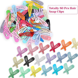 10PCS\40PCS\80PCS\2 Inch Snapshot Hairpin Hair Clips Solid Candy Color Snapshot Hairpin Girl Child Female