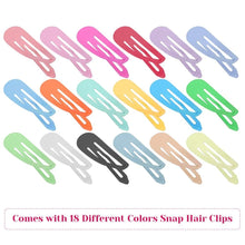 Load image into Gallery viewer, 10PCS\40PCS\80PCS\2 Inch Snapshot Hairpin Hair Clips Solid Candy Color Snapshot Hairpin Girl Child Female