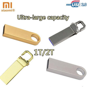 Exquisite little gift XIAOMI USB 2.0 Flash Drives Metal USB Flash Drives Ultra-large capacity 1T/2T Keychain Flash Memory USB Stick U Disk Storage