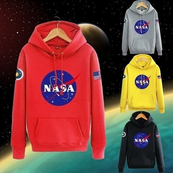 NASA Mars Rescue Matt Damon NASA Logo Astronaut Spaceman Coat Long Sleeve Hoodies