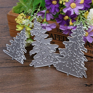 3Pcs Christmas Trees Metal Cutting Dies Stencil for Scrapbooking Die Cuts Stamping Cutting Embossing Template Craft Dies
