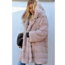 Load image into Gallery viewer, Winter Warm Long Cardigan Hooded Loose Fur Outwear Jackets Coats for Women Plus Size S-5XL