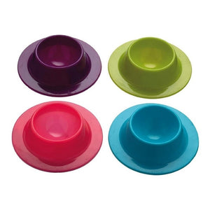 4 Pcs Silicone Egg Cups In Modern Design Holders Set Serving Kitchen Boiled Eggs Breakfast(Random Color)