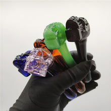 Load image into Gallery viewer, Skull Shape Handmade Glass Tobacco Pipe Herb Smoking Pipe Smoking Accessories