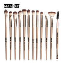 Load image into Gallery viewer, 12 Pcs/set Makeup Brushes Professional  Makeup Brushes Set Eye Shadow Blending Eyeliner Eyelash Eyebrow Brush