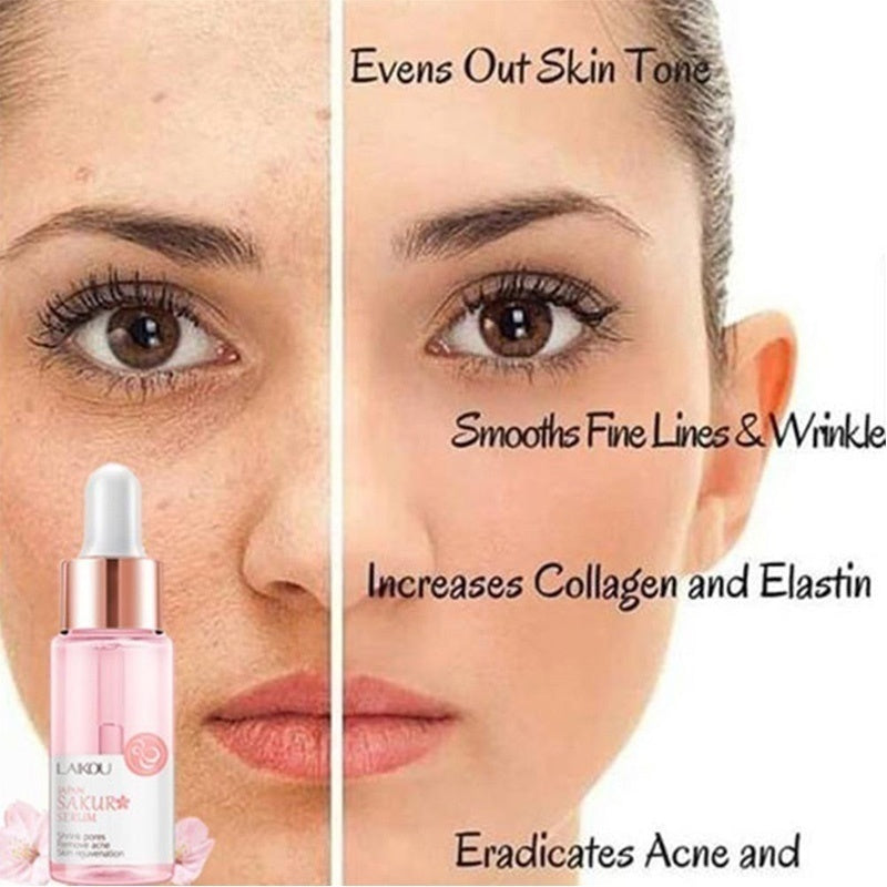 15ML Hyaluronic Acid Pores Shrinking Essence Tightening Oil-control Foundation Prolong Pores Invisible Makeup Base