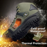Waterproof Boots Outdoor Sports Shoes Snow Boots for Men Hiking Boots Men's Winter Warm Boots