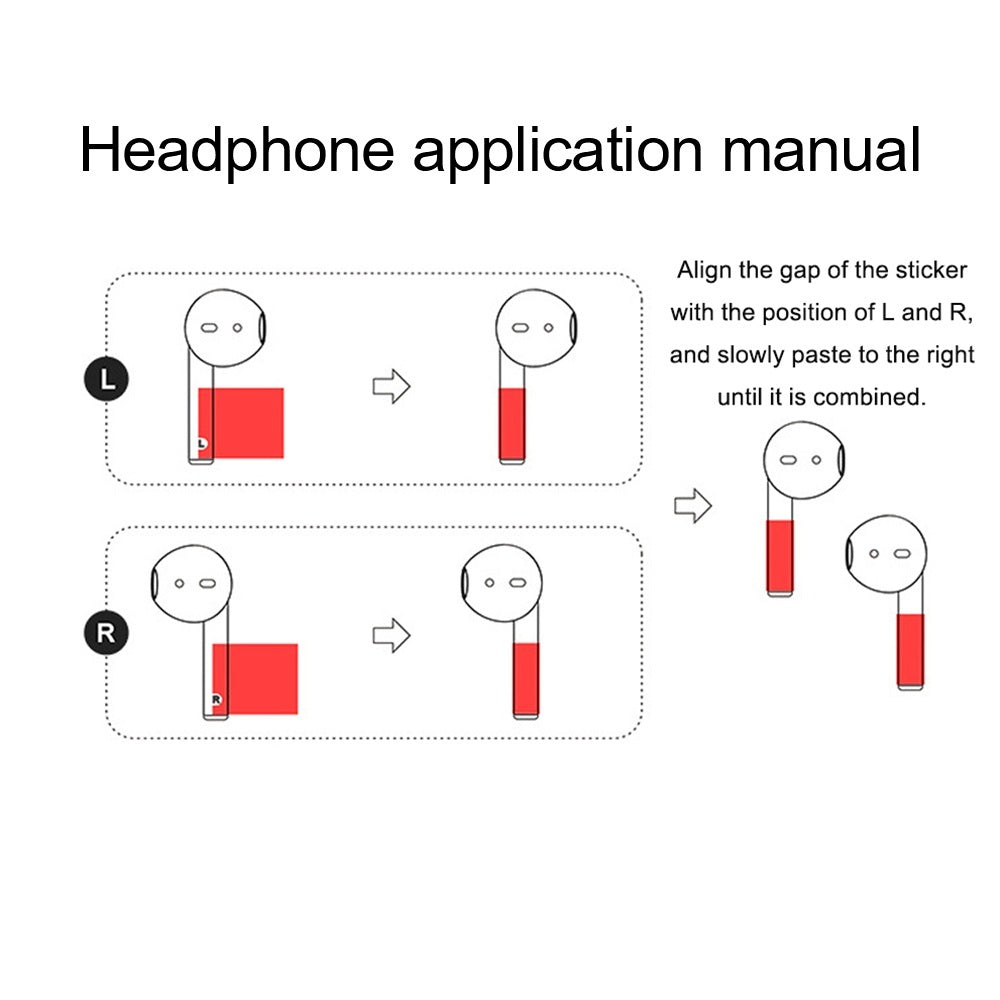 Earbuds Sticker DIY Personality Earphone Vinyl Decal Skin For Apple AirPods 1 2 Wired Charging Case Box Sticker